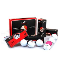 Wholesale Golf Gift Sets - Original PGM Golf Ball Three-layer Match Ball Gift Box Package Golf Ball Set Game Use Christmas Gift 2513014
