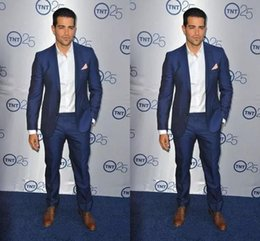Wholesale Two Side Clothing - Fashion Slim Fit Tuxedo For Groom Exquisite Mens Suits For Wedding Mens Formal Prom Clothing (Jacket+Pants)