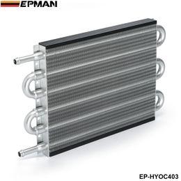 Wholesale Oil Cooler Row - EPMAN - NEW Universal 6 Row Aluminum Heavy Duty Transmission Oil Cooler Auto Manual Radiator Converter EP-HYOC403