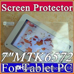 """Wholesale 3g For Android Tablet - Original Screen Protective Film Protector Guard for 7"""" MTK6572 7""""3G Phablet Android 4.2 4.4 Tablet PC D-PG"""