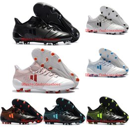Wholesale Crampons Shoe Spikes - 2018 cheap soccer cleats X 17.1 leather FG soccer shoes x 17 Purechaos FG mens Crampons de football boots outdoor shoes size 39-46 New