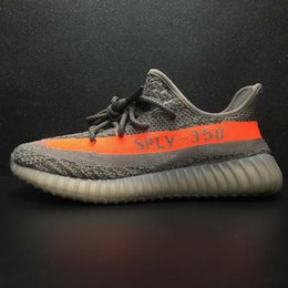 Wholesale Boys Running - NEW Real boost Boys Girls kanye west sply 350 v2 Shoes black pirate Children's Fashiion Athletic Shoes youth running Shoes with box