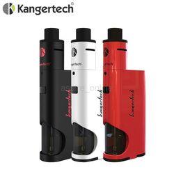 Wholesale Feeder Kits - Wholesale - 100% Authentic Kanger Dripbox Starter Kit 60W Bottom Feeder 18650 Box Mod 7ML Kangertech Dripbox Kit VS Kanger Topbox Mini