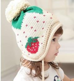 Wholesale Cute Korean Kids Winter Hat - New Hot Good Selling Boys Girls Children Korean Unisex Kids Cute Winter Warm Ear Knitting Hat 1904