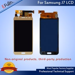 Wholesale Free Testing - For Samsung Galaxy 2016 J7 J700 No Dead Pixel Tested Working LCD LCD Display With Free DHL Shipping