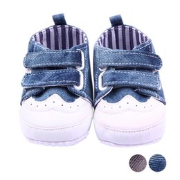 Wholesale Wholesale Baby Walkers Prices - Wholesale- Newborn Baby Shoes Infant Baby Spring Autumn Boys Gir Toddler First Walkers Canvas Shoes Sneaker Soft Bottom Lowest Price