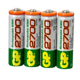 Wholesale Rechargeable Batteries Aa Gp - 4pcs lot original GP aa rechargeable battery 2700mah   gp 2700     rechargeable battery gp batteries 1.2V Ni-MH