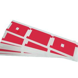 Canada Rétro-éclairage rouge autocollant film plastique adhésif remplacement pièce de rechange pour iphone 4 5S 6 6 plus supplier iphone stickers red Offre