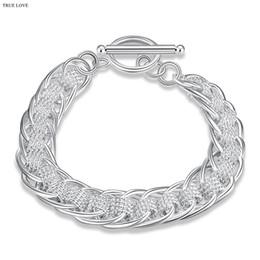 Canada De haute qualité 925 sterling silver plaqué cercle À bracelet mode bijoux unisexe cool street style livraison gratuite à bas prix supplier street style bracelet Offre