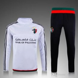 Wholesale Soccer Tracksuit Free Shipping - Free shipping top thai quality 2016 soccer jackets Real tracksuits Mardrids Palestine sweatsuit training suit Coat
