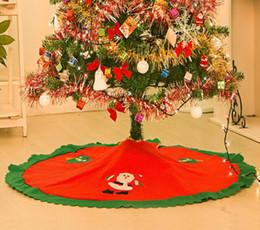 декоративный плинтус Скидка Санта-Клаус елка юбка елки орнамент юбки винтаж нетканый мультфильм фартук 35.4 '' праздничные украшения для вечеринок поставляет красный