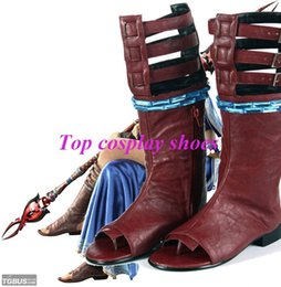 Wholesale Final Cosplay - Wholesale-Final Fantasy 13 Oerba Yun Fang Cosplay SHOES Custom halloween New come #406 hand made Custom made freeshipping