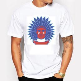 Wholesale Leaders Clothing - Tribal Leaders Men T-shirt Summer Cotton Short Sleeve Tee shirt Swag Indian Head Sport Men Clothing T-shirt
