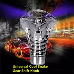 Wholesale Rally Shift - Universal Car Gear Shift Knob lever Stick Lighted Gears Rally Racing Shifter for Manual Transmission Blue Red Eyes Car Styling