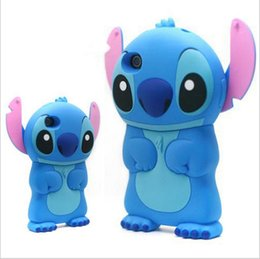 Wholesale Iphone 5s Lilo Stitch - For iphone 8 case 3D cartoon cute stand Stitch Lilo & Stitch cases for Silicone cover for iphone x 8 plus iphone 4 5 5s se 6 7 plus sale