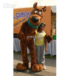 Wholesale Scooby Doo Mascot Costumes - on sale free ship Scooby scooby-doo Cartoon Dog plush Mascot Costume Cartoon Character Costume Game toy men unisex Adult size Free Shipping