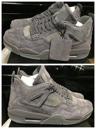 Wholesale Table Gear - KAWS x retro 4s iv 2017 men basketball shoes with originals box Grey Color Fashion Sports Shoes Outdoor Shoes Running Gear