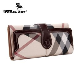 Wholesale wholesale pockets - Wholesale- High Quality Womens Long Wallets 2017 New Fashion Designer Passport Holder Plaid Wallets And Travel Cell Phones Purses 7000