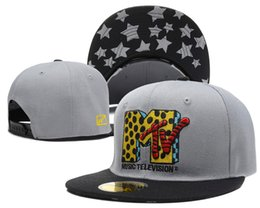 Wholesale Mtv Caps - The Yo MTV Raps Logo Snapback Embroidered Snapbacks Hip Hop Cap Hat Men Women Summer Sun Hats Visor Caps