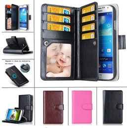Wholesale Function House - Multi-function Wallet Case PU Leather Flip Case Housing With Card Slots 2in1 leather Case for Iphone 5s 6 6s plus samsung S6 S7 S7 edge