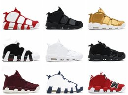 Wholesale 3m Shoes Laces - 2017 Men Basketball Shoes Red Black Gold Boys Basketball Shoes For 3M Fashion Casual Sneakers Scottie Pippen Sports Sneakers US8-13 With Box