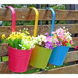 Wholesale Bucket S - new succulents pots Decorative candy colorful flower pots Iron bucket planters succulent plant potted on the desk home decoration wholesale