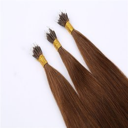 Wholesale S Blonde Hair Extensions - Cheap 8A Grade Natural Nano Ring Hair Extensions 1G S 100G Pack Straight Factory Prices All Colors Russian Nano Tip Hair Extensions InStock