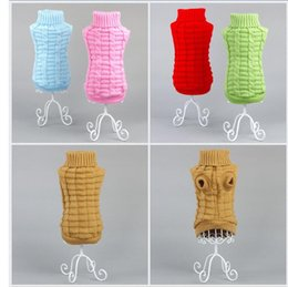 Wholesale Dachshund Clothes - 5 Colors 3D Design Pet Dog Clothes Sweaters For dogs Autumn Winter Best Quality Knitting Crochet Clothing For chihuahua dachshunds