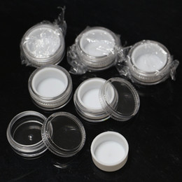 Wholesale White Plastic Containers Wholesale - white liner inside plastic jars dab wax 5ml clear plastic container concentrate oi butane plastic jars with silicone lining