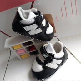 Wholesale Baby Cribs Shoes - FREE SHIPPING Baby Boys Girls Soft Sole Crib Shoes PU Leather Anti-slip Shoes Toddler Sneakers 0-18M