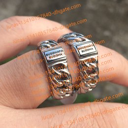 Wholesale black titanium jewelry - Classic Style Netherlands Ring Brand TO Buddha 925 Sterling Silver Bracelet Jewelry Fashion Ring for Men Perfect Big Drop Shipping Hot Sell