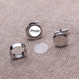 Wholesale Wholesale Per Pair - high quality wedding cufflinks with your names or wedding photos on the cufflinks copper material 250 pairs per lot