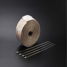 Argentina Tubo de escape de fibra de vidrio / fibra de vidrio de alta calidad de color beige 10m x 2 pulgadas con 10 kits de corbatas de acero inoxidable Suministro