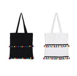 Wholesale Canvas Bags Colour - wholesale colour Tassels women Korean Shopping Hit color shoulder bag Reticule Canvas bag Schoolbag environmental protection