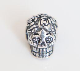 Wholesale Skull Bracelet Jewelry - Real 100% 925 Sterling Silver dog swan cz paw skull monkey snake Bead Charm Vintage European animals Beads Fit Pandora Bracelets DIY Jewelry
