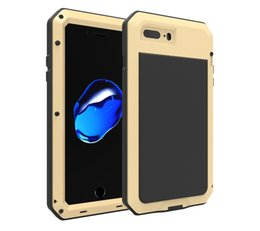 Wholesale Iphone4 Waterproof Cases - Hot selling Waterproof Metal Case Hard Aluminum Dirt Shock Proof Phone Case Cover for iphone4 4s 5 5c 5s 6 6s 7 7plus