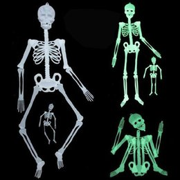 Wholesale Skeletons Props - 90Cm Halloween Ghost Day Scene Setting Prank Props Night Lights White Green Color Luminous Skeleton Halloween Party Supplies