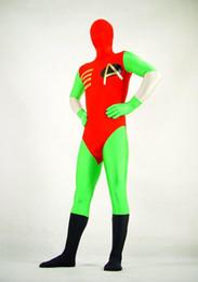 Wholesale Robin Halloween Costumes - DC Comics Robin Powerful Superhero CostumeFullbody Superhero Halloween Cosplay Costume