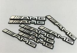 amg emblemas Desconto 100 pcs 35x4mm Volante Carro Adesivos Emblema Decoração Do Carro Som de Áudio Decalques para Benz AMG A B C E GLA CLA GLK ML