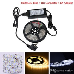 Wholesale Cooler 12v 6a - Super Bright LED Strip 5630 5M 300LED Waterproof Non Wateproof White Warm White DC Connector 12V 6A Adapter For Home Decoration flexible lig