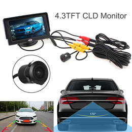 Wholesale Rearview Cameras - HD Video Auto Parking Monitor 4.3 Inch Car Rearview Monitor with Waterproof Night Vision CMD Car Rearview Camera CMO_352