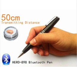 Wholesale Earpieces Spy Pen - Metal Bluetooth Pen With a680 spy Earpiece 50-60cm Long Transmitting Distance Can Work during Writing