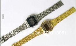 Wholesale Photoelectron Watches - Free shipping 10pcs lot F-91W watches f91 fashion -thin LED change F-91w photoelectron watches F 91 W sport watch