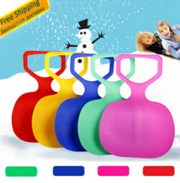 Wholesale Snow Ski Board - Adult Kids Thicken Plastic Skiing Boards luge adulte Ski Pad Children Snow grass sand Sledge Sled for Winter Sports