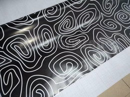 boat stickers Coupons - Black white Circle style Camoufalge Vinyl For Car Wrap Film With air bubble free CAMO film for Truck   boat graphics Foil 1.52X30M (5x98ft)