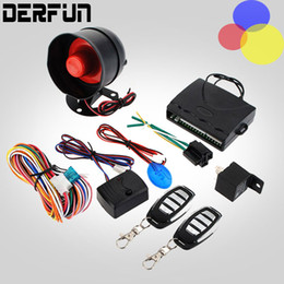 Wholesale Security Systems Siren - NEW Universal 1-Way Car Alarm Vehicle System Protection Security System Keyless Entry Siren + 2 Remote Control Burglar hot sale
