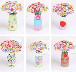 Wholesale Bags Teachers - Teacher 's Day Creative Gifts Children DIY Handmade Fabrics Button Bouquets Bags Children' s Educational Toys WD329