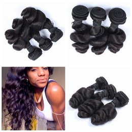 Wholesale Factory Direct Weft - 2017 Factory Direct Unprocessed Malaysian Human Hair Loose Wave Machine Made Double Drawn Hair Tangle Free G-EASY hair