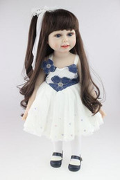 Wholesale Dolls American Girl - The Cutest Fashion Lifelike Baby 18' Inch American Girl Doll PlayToy BDG67 Eco-friendly Brinquedos Meninas Bathing DIY Doll Cheapest Doll