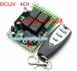 Wholesale 315 Mhz Remote - 433MHZ 315 MHz DC12V 4CH Learning Code RF Wireless Remote Switch Controllers for Appliances